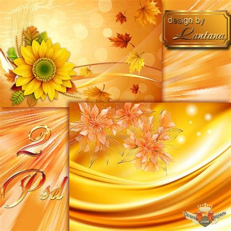 Wedding Background Golden Yellow by Yellow Golden Autumn Psd Background With Flowers For