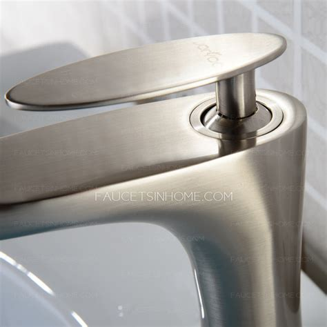 brushed copper bathroom faucets modern brushed nickel copper single handle bathroom sink