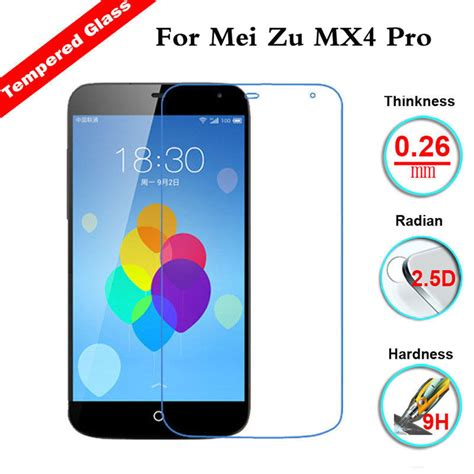 Tempered Glass Zu M2 9h hardness tempered glass screen protector for meizu m2 note mx5 mx4 pro ebay