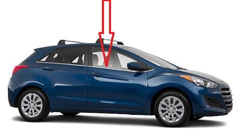2013 Hyundai Elantra Door Replacement by Front Door Glass Passenger Side Hyundai Elantra Gt 4 Door