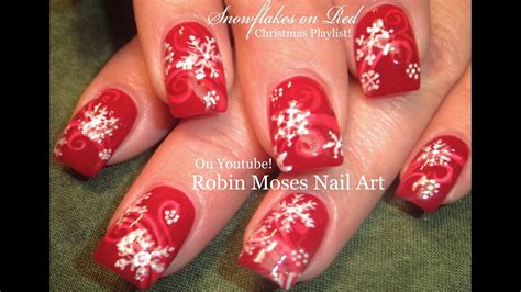 Nägel Weihnachten by Easy Snowflake Nails Nail Design Tutorial