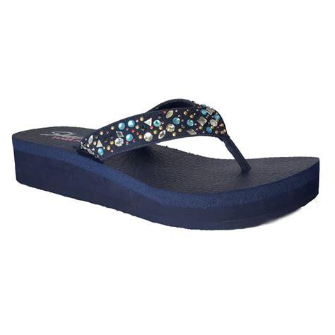 flip flop sandals skechers vinyasa zen goddess navy flip flop sandal