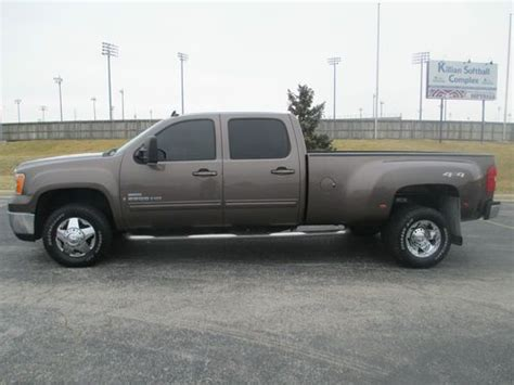 sell used 2008 gmc sierra 3500hd slr crew cab 4x4 dually duramax diesel allison no res in