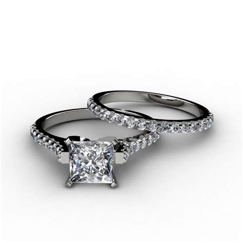 bridal sets bridal sets wedding rings princess cut