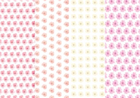 cute pattern set cute flower vector pattern set download free vector art