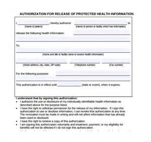 generic medical record release form 10 free samples