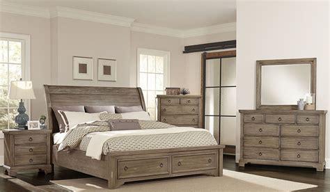 Whiskey Barrel Rustic Gray Sleigh Storage Bedroom Set From Bedroom Furniture Virginia