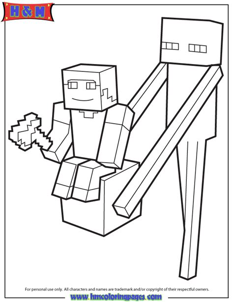 free coloring pages of minecraft pix axe