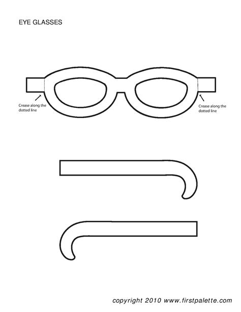 glasses template eye templates for crafts