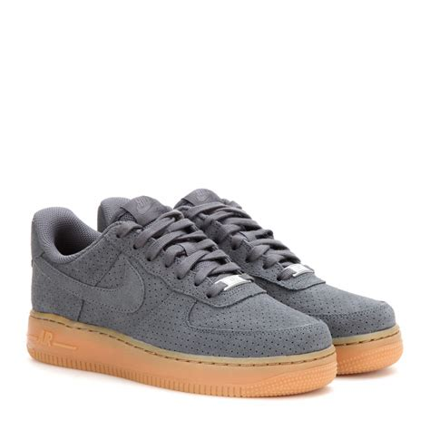 nike air sneakers nike air 1 suede sneakers in gray lyst