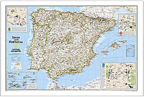 spain and portugal classic tubed national geographic reference map books mapworks the melbourne map shop wall maps of europe