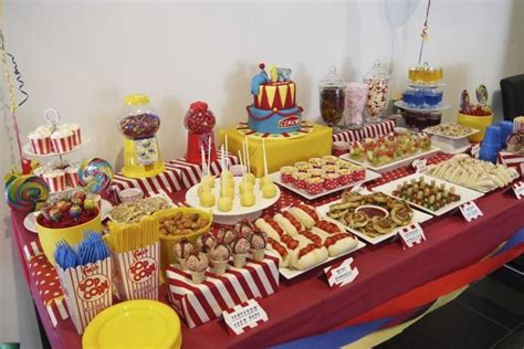Childs Picnic Table Carnival Theme Party