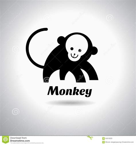new year monkey logo monkey logo template vector illustration stock vector