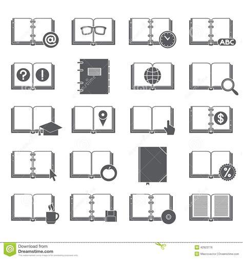 libro smbolo y simbologa en libros e iconos de los s 237 mbolos fijados ilustraci 243 n del vector ilustraci 243 n de librer 237 a