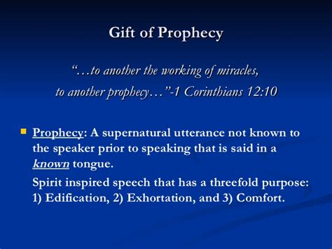 prophecy is for edification exhortation and comfort hearing the voice of god