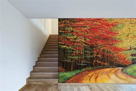 Impressionnant Poster Mural Geant Trompe L Oeil #1: poster-mural-trompe-l-oeil-chemin-forestier.jpg