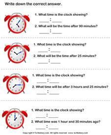 read clocks and write the time turtlediary com