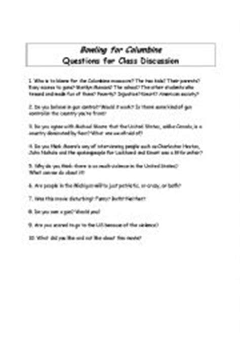Bowling For Columbine Essay by Bowling For Columbine Essay