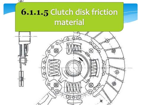 Kain Koplingclutch Disc 1 clutch materials
