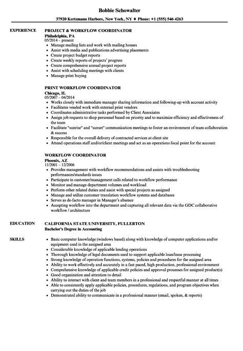 workflow coordinator description workflow coordinator resume sles velvet