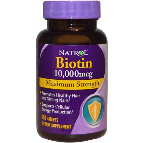 Biotin Also Search For Natrol Biotin 10 000 Mcg Maximum Strength 100 Tablets New 47469053963 Ebay