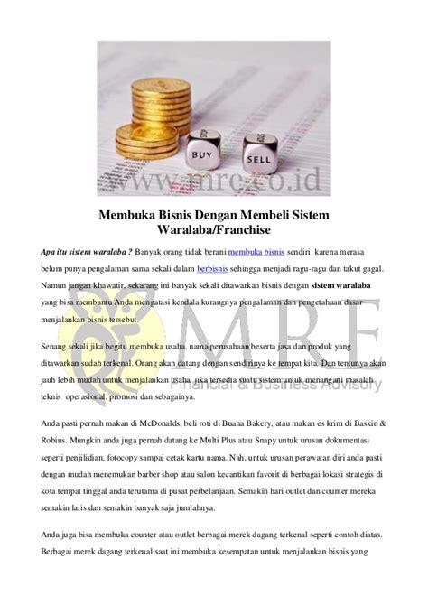 Membuka Usaha Franchise | membuka bisnis dengan membeli sistem waralaba franchise