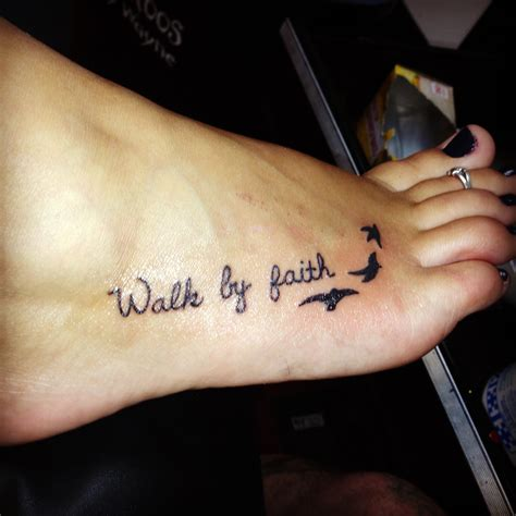 tattoo quotes about faith my tattoo walk by faith ink piercings pinterest