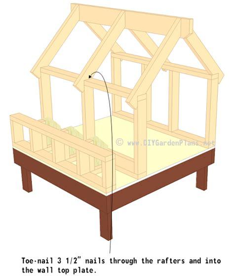 Gambrel Roof Design by Chicken Coop Plans Truss Rafters