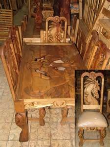 Western Dining Room Sets Design Carved Dining Table Western Rustic Furniture