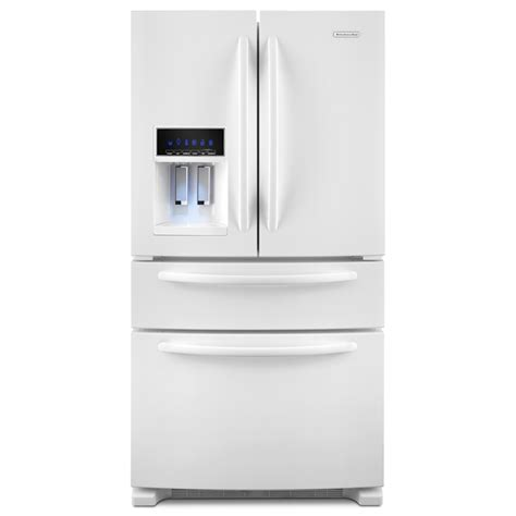 kitchenaid refrigerators door shop kitchenaid 25 cu ft 4 door door refrigerator
