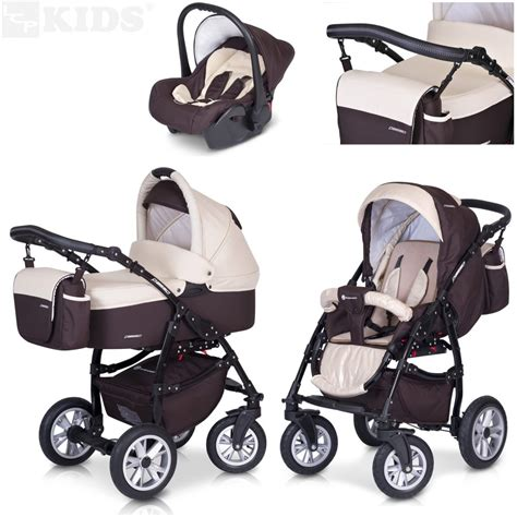 pram pushchair 3in1 set stroller car seat passo premium