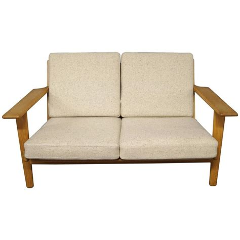 two person sofa ge 290 two person sofa designed by hans j wegner 1960s