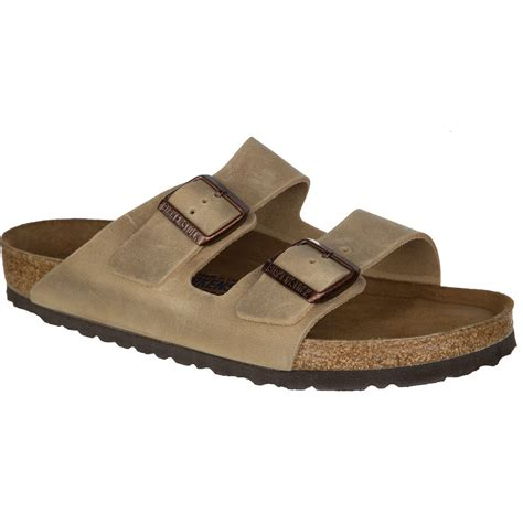 mens soft leather sandals birkenstock arizona soft footbed leather sandal s