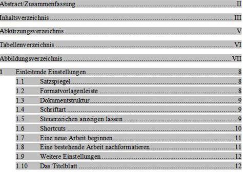 Vorlage Word Diplomarbeit inhaltsverzeichnis dissertation vorlage abschlussarbeiten