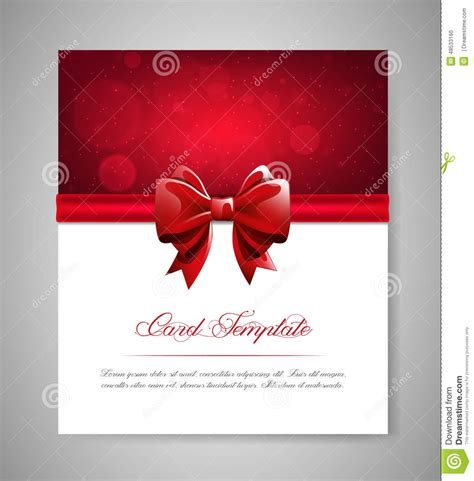 greeting card template s day greeting card template with bow and ribbon invitation
