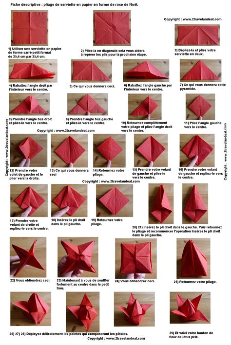 Origami Serviette De Table by Pliage En Papier R 233 Aliser Un Poinsettia Avec Une Serviette