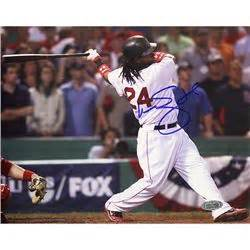 manny ramirez swing manny ramirez 2007 alds swing 8x10 photo