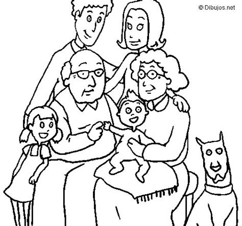 imagenes sobre la familia para dibujar dibujo de familia para colorear dibujos net