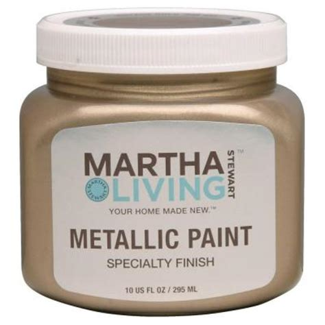 martha stewart living 10 oz vintage gold satin metallic paint 259285 the home depot