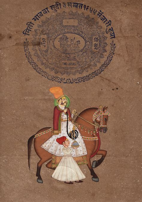 Handmade Indian - rajasthani equestrian painting handmade indian maharaja