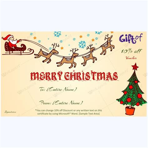 61 Best Merry Christmas Gift Certificate Templates Images On Pinterest Christmas Presents Merry Gift Certificate Templates