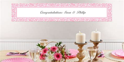 Wedding Banners At City by Custom Light Pink Wedding Banners City