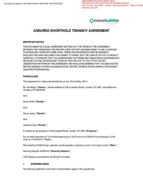 example movebubble rentsign rental agreement