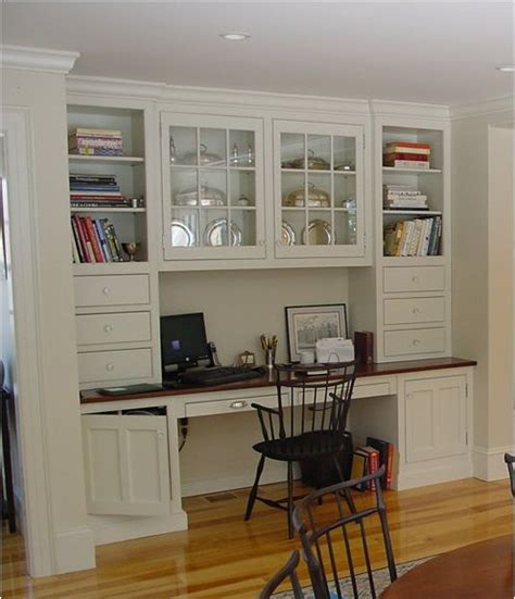 built in desk kitchen spaces and cabinet dreams