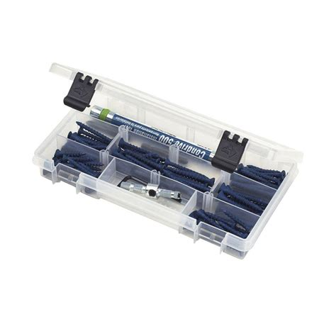 husky 9 in 6 compartment bin small parts organizer