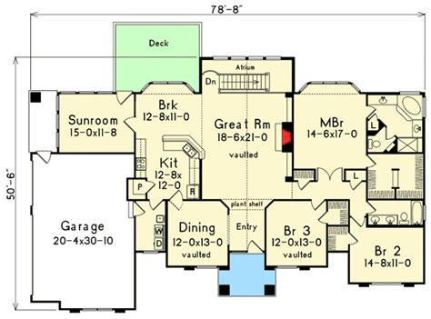 atrium ranch floor plans atrium ranch home plan 57030ha architectural designs