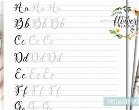 hand lettering tutorial worksheet small brush pen blank practice sheets from