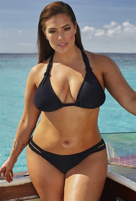 Feminine Office Furniture ashley graham x swimsuitsforall double cross black bikini