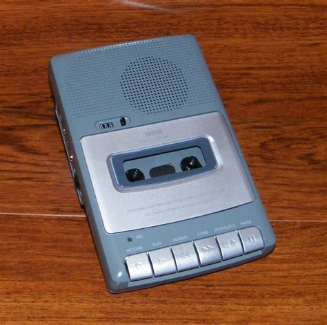 cassette player rca grey personal portable voice recorder cassette