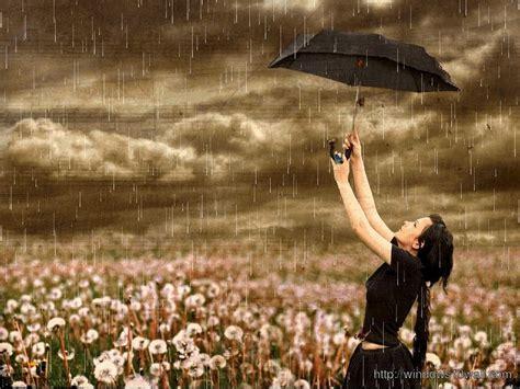 wallpaper girl in rain ra windows 10 wallpapers